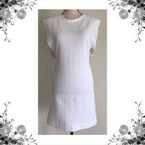 {Free People} Britt Britt White Terry Shift Dress